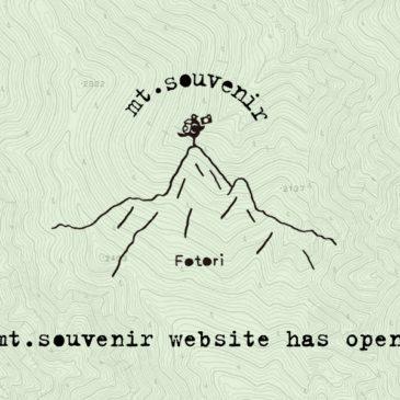 mt.souvenirのサイトができました