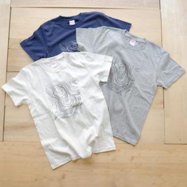 等高線柄Tシャツ(化繊&コットン)販売スタートしました